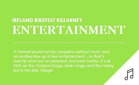 Ireland Bikefest Entertainment Background Image