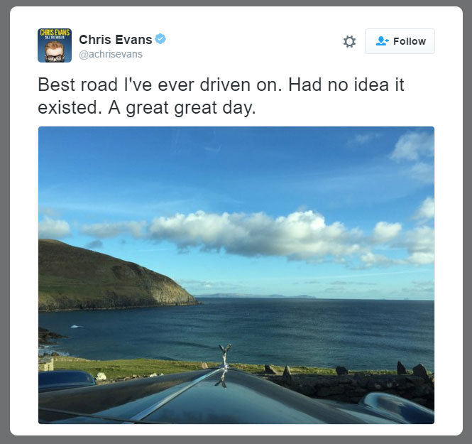 Chris Evan Tweet