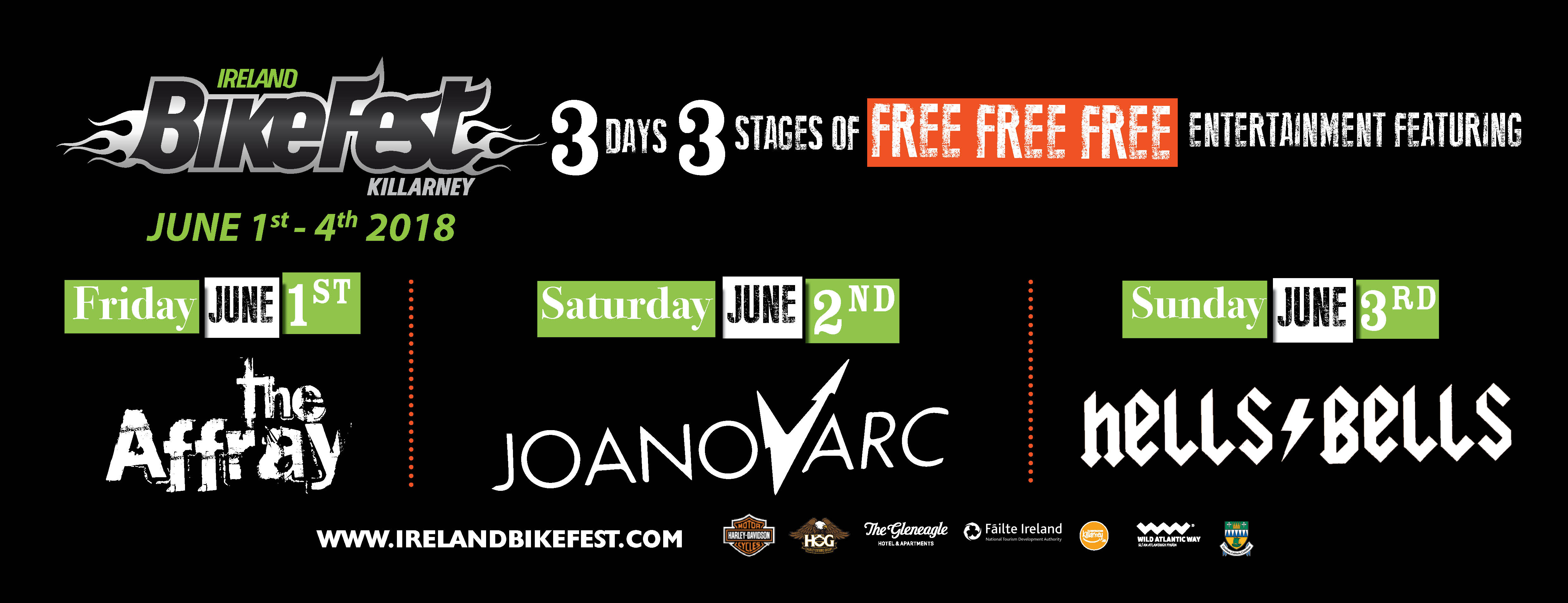 Ireland Bikefest Killarney Entertainment 2018