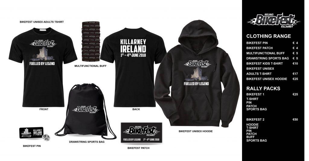Ireland Bikefest Merchandise